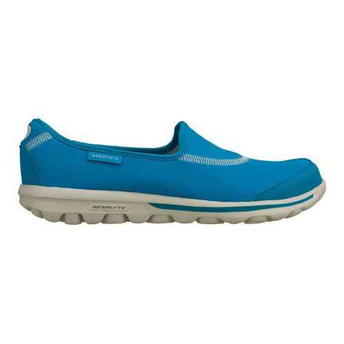 Womens Skechers GO Walk Walking Shoe - Turquoise 6.5