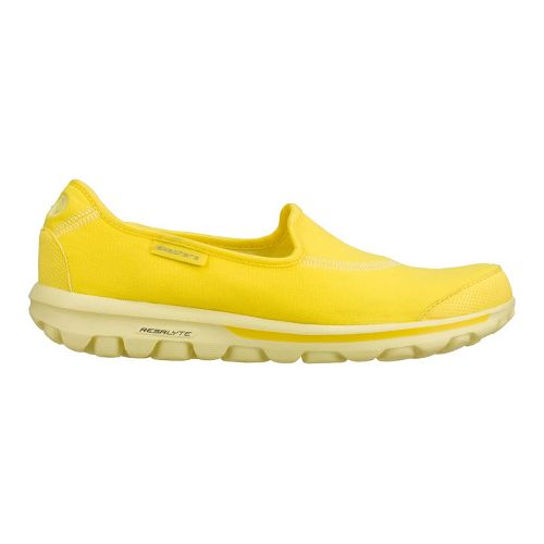 Womens Skechers GO Walk Walking Shoe - Yellow 10