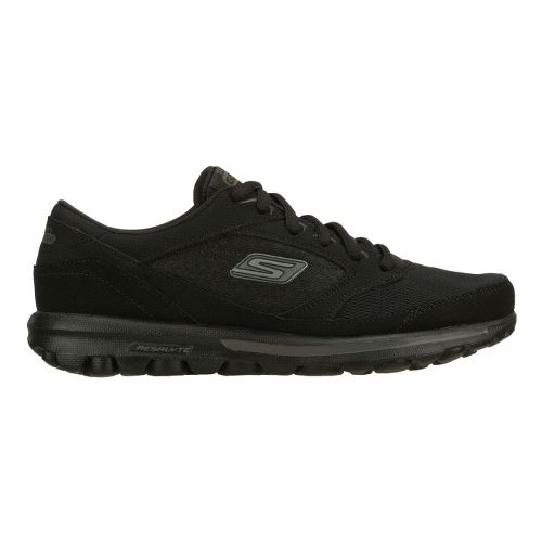 Womens Skechers GO Walk - Baby Walking Shoe - Black 6