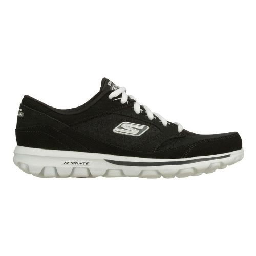 Womens Skechers GO Walk - Baby Walking Shoe - Black/White 8.5