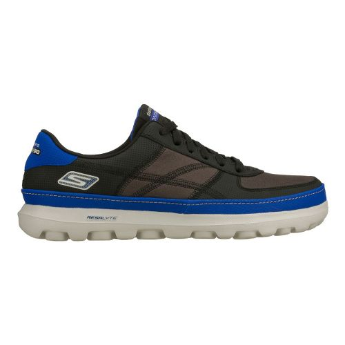 Mens Skechers on the GO - Court Walking Shoe - Black/Blue 9.5