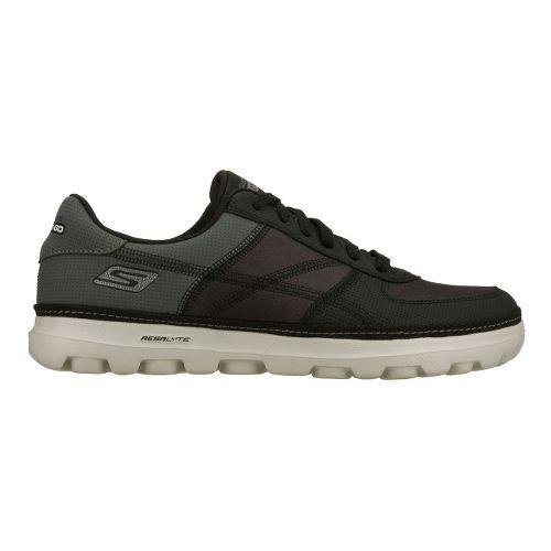 Mens Skechers on the GO - Court Walking Shoe - Black/Grey 11