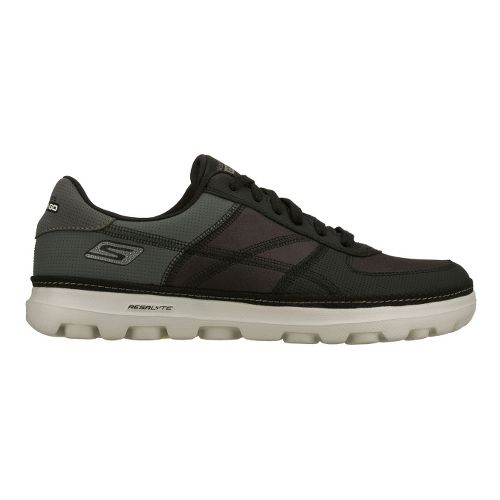 Mens Skechers on the GO - Court Walking Shoe - Black/Grey 8.5