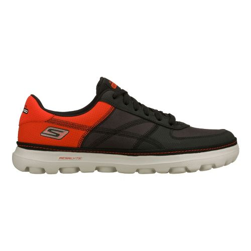 Mens Skechers on the GO - Court Walking Shoe - Black/Red 9