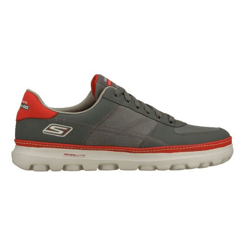 Mens Skechers on the GO - Court Walking Shoe - Charcoal/Red 6.5