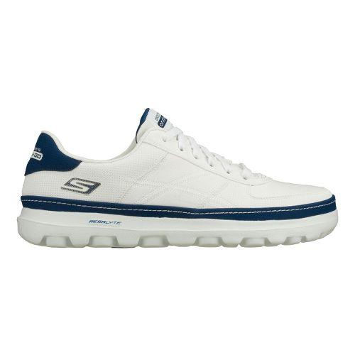Mens Skechers on the GO - Court Walking Shoe - White/Navy 11.5