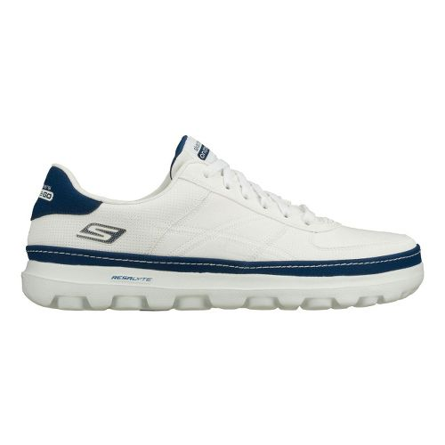 Mens Skechers on the GO - Court Walking Shoe - White/Navy 7