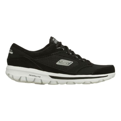 Mens Skechers on the GO - Rookie Walking Shoe - Black/White 10