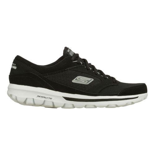 Mens Skechers on the GO - Rookie Walking Shoe - Black/White 10.5