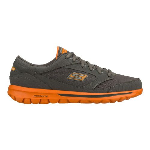 Mens Skechers on the GO - Rookie Walking Shoe - Charcoal/Orange 11