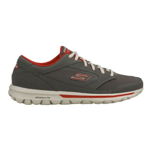 Mens Skechers on the GO - Rookie Walking Shoe - Charcoal/Red 12.5