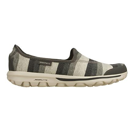 Womens Skechers GO Walk - Stripy Walking Shoe