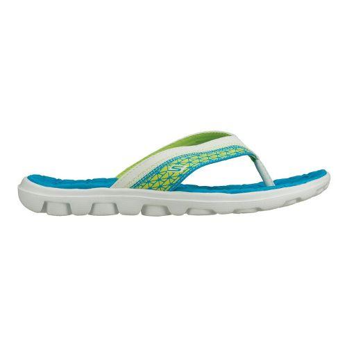 Womens Skechers on-the-GO - Escape Sandals Shoe - Blue/Lime 5