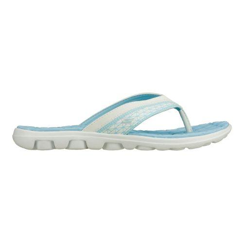 Womens Skechers on-the-GO - Escape Sandals Shoe - White/Blue 9