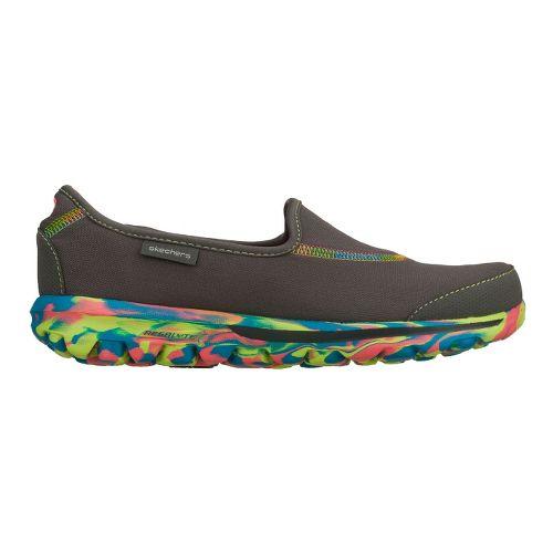 Womens Skechers GO Walk - Rainbow Walking Shoe - Charcoal 5