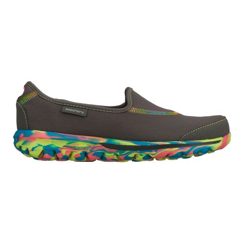 Womens Skechers GO Walk - Rainbow Walking Shoe - Charcoal 6