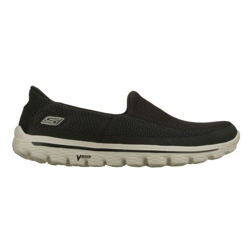 Mens Skechers GO Walk 2 Walking Shoe - Black/Grey 9.5