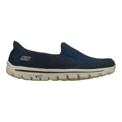 Mens Skechers GO Walk 2 Walking Shoe - Navy/Grey 8.5