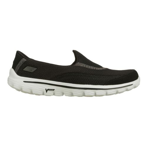 Womens Skechers GO Walk 2 Walking Shoe - Black/White 7.5
