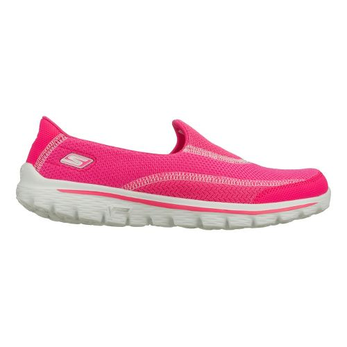Womens Skechers GO Walk 2 Walking Shoe - Hot Pink 6.5