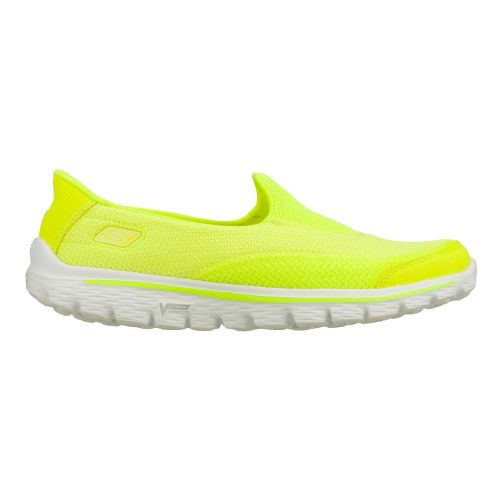 Womens Skechers GO Walk 2 Walking Shoe - Lime 8.5