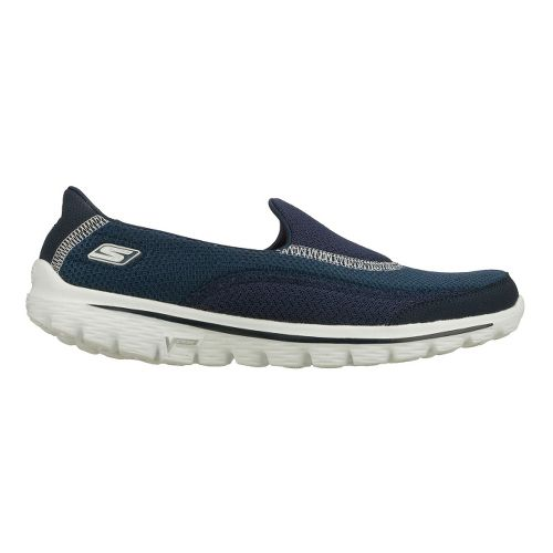 Womens Skechers GO Walk 2 Walking Shoe - Navy 8