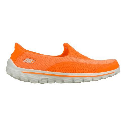 Womens Skechers GO Walk 2 Walking Shoe - Orange 6.5