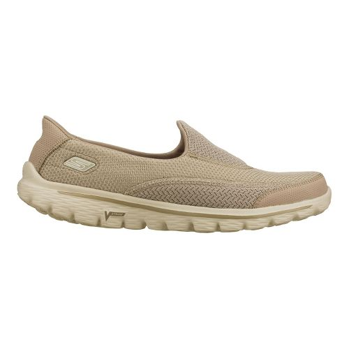 Womens Skechers GO Walk 2 Walking Shoe - Stone 8.5