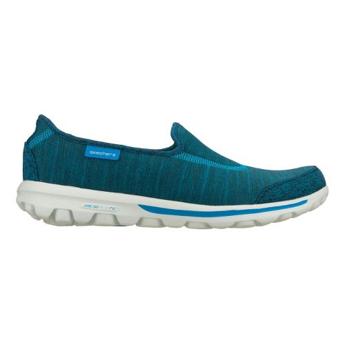 Womens Skechers GO Walk - Interval Walking Shoe - Blue 5