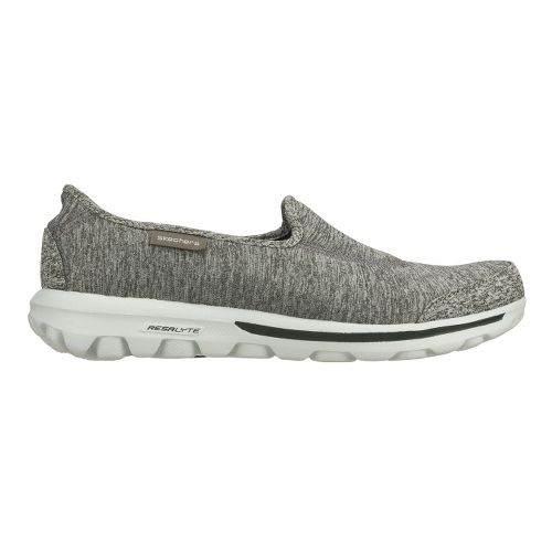 Womens Skechers GO Walk - Interval Walking Shoe - Grey 7.5