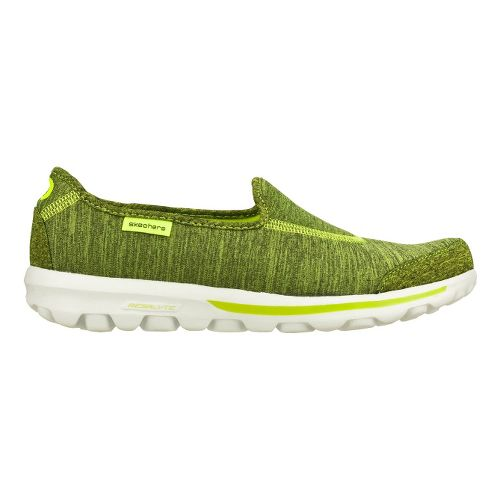 Womens Skechers GO Walk - Interval Walking Shoe - Lime 6.5