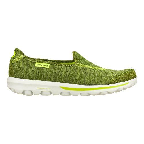 Womens Skechers GO Walk - Interval Walking Shoe - Lime 7.5