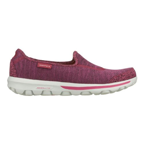 Womens Skechers GO Walk - Interval Walking Shoe - Pink 5