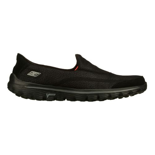 Womens Skechers GO Walk 2 - Linear Walking Shoe - Black 5.5