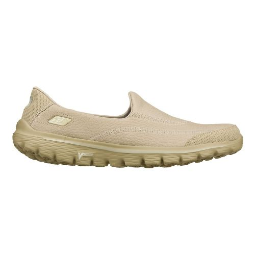 Womens Skechers GO Walk 2 - Linear Walking Shoe - Stone 10