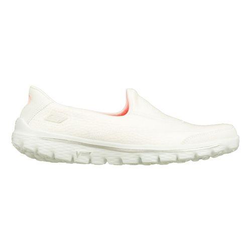 Womens Skechers GO Walk 2 - Linear Walking Shoe - White 11