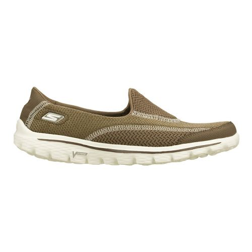 Womens Skechers GO Walk 2 - Spark Walking Shoe - Taupe 11