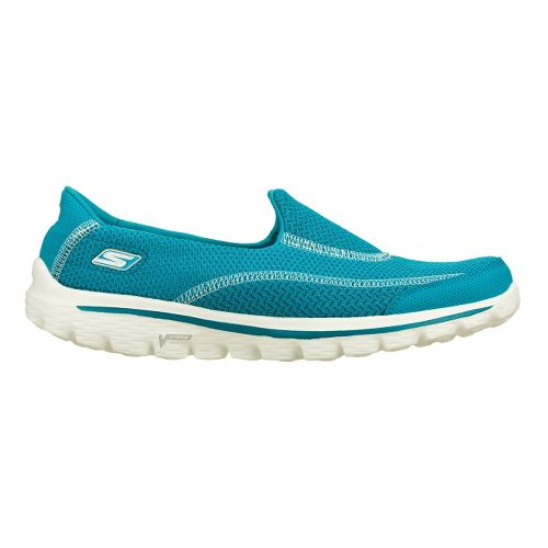 Womens Skechers GO Walk 2 - Spark Walking Shoe - Turquoise 8.5