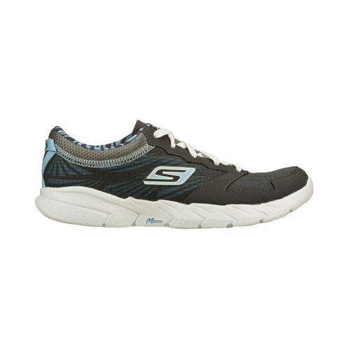 Womens Skechers GO Fit Running Shoe - Charcoal/Blue 8.5