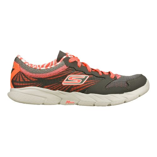 Womens Skechers GO Fit Running Shoe - Charcoal/Coral 7
