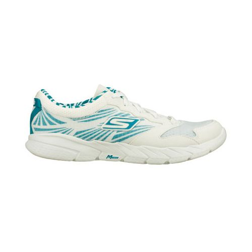 Womens Skechers GO Fit Running Shoe - White/Turquoise 6