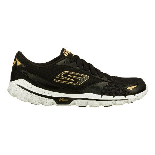 Mens Skechers GO Run 3 Running Shoe - Black/Gold 10
