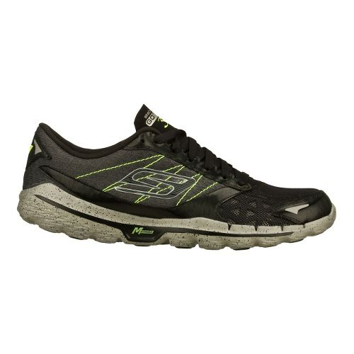 Mens Skechers GO Run 3 Running Shoe - Black/Lime 11