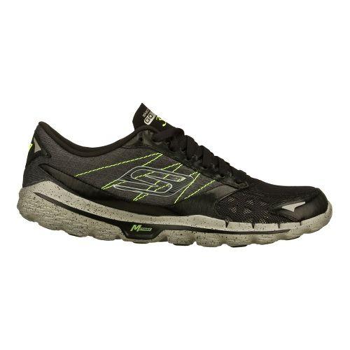 Mens Skechers GO Run 3 Running Shoe - Black/Lime 11.5