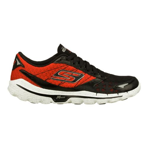 Mens Skechers GO Run 3 Running Shoe - Black/Red 12
