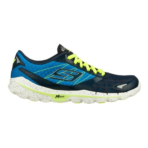 Mens Skechers GO Run 3 Running Shoe - Blue/Lime 7.5