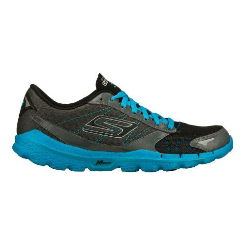 Mens Skechers GO Run 3 Running Shoe - Charcoal/Turquoise 12