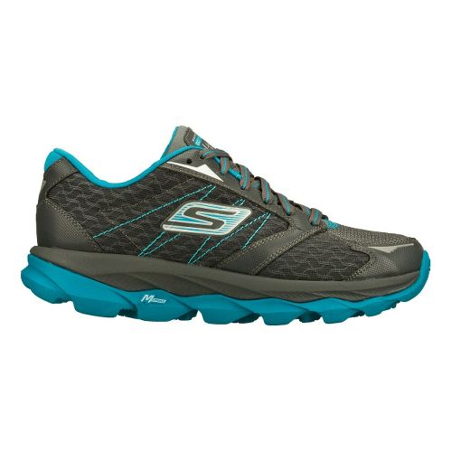 Womens Skechers GO Run Ultra Running Shoe - Charcoal/Turquoise 5