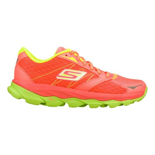 Womens Skechers GO Run Ultra Running Shoe - Hot Pink/Lime 7.5