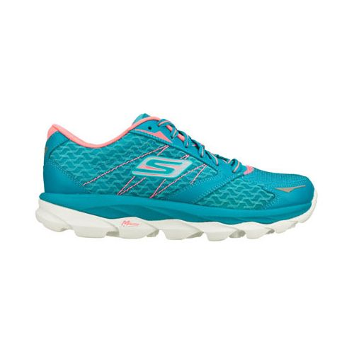 Womens Skechers GO Run Ultra Running Shoe - Teal/Pink 5.5